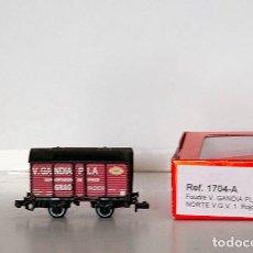 Trenes Escala: KTRAIN.1704-A. VAGON FOUDRE V.GANDIA PLA NORTE ROJO. CON CAJA ORIGINAL. Lote 152364650