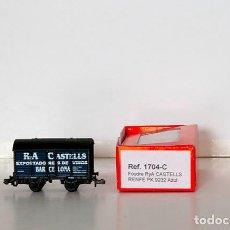 Trenes Escala: KTRAIN 1704-C. VAGÓN FOUDRE TRANSPORTE DE VINOS R. Y A. CASTELLS. CON CAJA ORIGINAL.. Lote 152364966