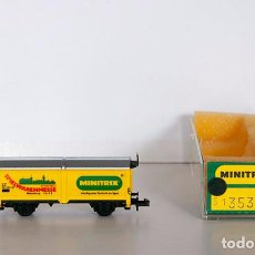 Trenes Escala: MINITRIX N 13530-83. HUB VAGÓN DE TECHO CORREDIZO SPIELWARENMESSE 1983. CON CAJA.. Lote 152965706