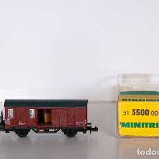 Trains Échelle: MINITRIX 13500. VAGÓN MERCANCIAS. DB ALEMAN ÉPOCA III. CON CAJA ORIGINAL. Lote 152967650