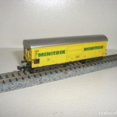 Trenes Escala: MINITRIX N CERRADO MINITRIX 4 EJES (CON COMPRA DE 5 LOTES O MAS ENVÍO GRATIS). Lote 153693914