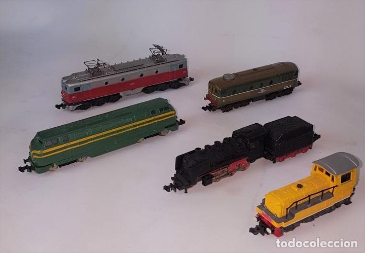 Trenes Escala: EXCEPCIONAL LOTE DE LOCOMOTORAS Y VAGONES. VARIAS MARCAS. ESC N. CIRCA 1970. - Foto 2 - 153828938