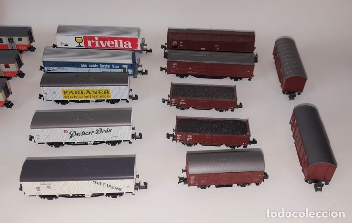 Trenes Escala: EXCEPCIONAL LOTE DE LOCOMOTORAS Y VAGONES. VARIAS MARCAS. ESC N. CIRCA 1970. - Foto 4 - 153828938