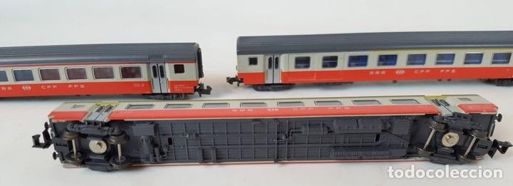 Trenes Escala: EXCEPCIONAL LOTE DE LOCOMOTORAS Y VAGONES. VARIAS MARCAS. ESC N. CIRCA 1970. - Foto 21 - 153828938