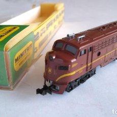 Trenes Escala: TRIX MINITRIX LOCOMOTORA AMERICANA DIESEL PENSILVANIA. NO USADA- VÁLIDA IBERTREN 2N. Lote 155508238