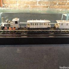 Trenes Escala: LOCOMOTORA Y VAGONES DE PLATA DE LEY ESCALA N. Lote 162769473