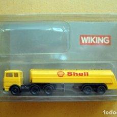 Trenes Escala: CAMIÓN SHELL DE WIKING. CON CAJA. Lote 166417450