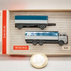 Trenes Escala: MB CAMION REMOLQUE WIKING 1/160 (N). Lote 166915436