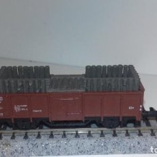 Trenes Escala: MINITRIX N BORDE ALTO CON TRONCOS (CON COMPRA DE 5 LOTES O MAS, ENVÍO GRATIS). Lote 167458772