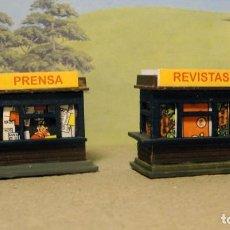 Trenes Escala: DOS KIOSCOS PARA ANDENES O ESTACIONES. Lote 167637068