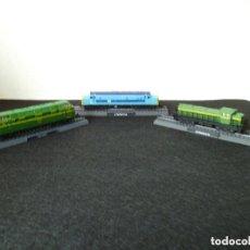 Trenes Escala: TRENES LOTE DE 3 LOCOMOTORAS ESTÁTICAS ESCALA N ( EN BLISTER ORIGINAL). Lote 194378098
