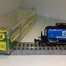 Trenes Escala: MINITRIX N CISTERNA ARAL 3543 (CON COMPRA DE 5 LOTES O MAS, ENVÍO GRATIS). Lote 168843460