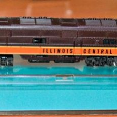 Trenes Escala: LOCOMOTORA DIESEL E-7 4009 ILLINOIS CENTRAL DE ATLAS. ESCALA N, COMPATIBLE CON IBERTREN.. Lote 169453760