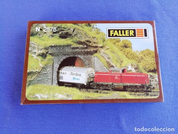 Trenes Escala: Dos puertas de túnel Faller N 2578. Como se muestra en las fotos. - Foto 2 - 169992248