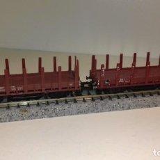 Trenes Escala: MINITRIX N 2 VAGONES TELEROS (CON COMPRA DE 5 LOTES O MAS ENVÍO GRATIS). Lote 170967375