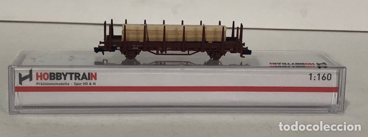 Trenes Escala: HOBBYTRAIN VAGÓN TELEROS CON TABLONES DE MADERA, REFERENCIA H23005-18 ESCALA N - Foto 2 - 174428642