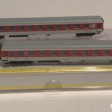 Trenes Escala: TRIX SET 2 VAGONES DE PASAJEROS DB REFERENCIA 15854, ESCALA N. Lote 175669125