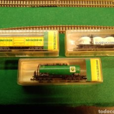 Trenes Escala: MINITRIX ESCALA N VAGONES DE MERCANCIAS. Lote 176161999