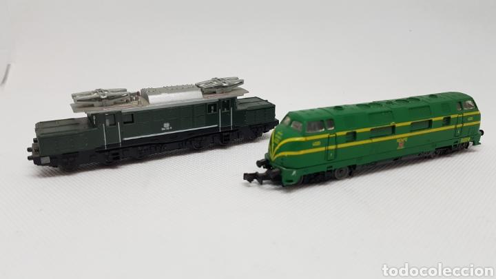 2 LOCOMOTORAS CIL ESCALA N (Juguetes - Trenes Escala N - Otros Trenes Escala N)