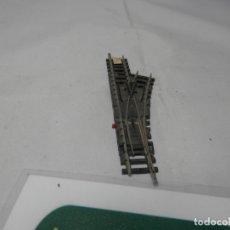 Trenes Escala: DESVIO MANUAL DERECHO ESCALA N DE MINITRIX . Lote 182864767