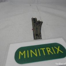 Trenes Escala: DESVIO MANUAL DERECHO ESCALA N DE MINITRIX . Lote 182865238