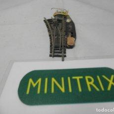 Trenes Escala: DESVIO ELECTRICO IZQUIERDO ESCALA N DE MINITRIX . Lote 182891027