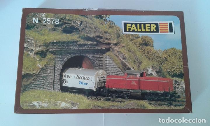 FALLER, 2 ENTRADAS TUNEL UNA VIA, REF. N 2578 (Juguetes - Trenes Escala N - Otros Trenes Escala N)