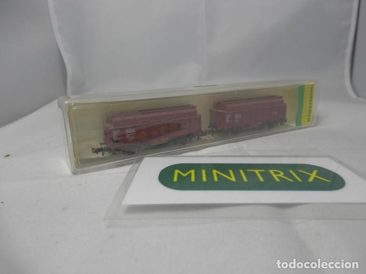 SET VAGONES ESCALA N DE MINITRIX (Juguetes - Trenes Escala N - Otros Trenes Escala N)