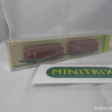 Trenes Escala: SET VAGONES ESCALA N DE MINITRIX . Lote 182992716