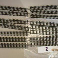 Trenes Escala: TRIX 15 RECTAS STANDAR REF 4904. Lote 186409921