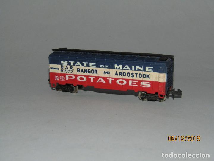 Trenes Escala: Antiguo Vagón STATE of MAINE Potatoes Tipo Americano en Escala *N* Fabricado en Yugoslavia - Foto 3 - 186431142
