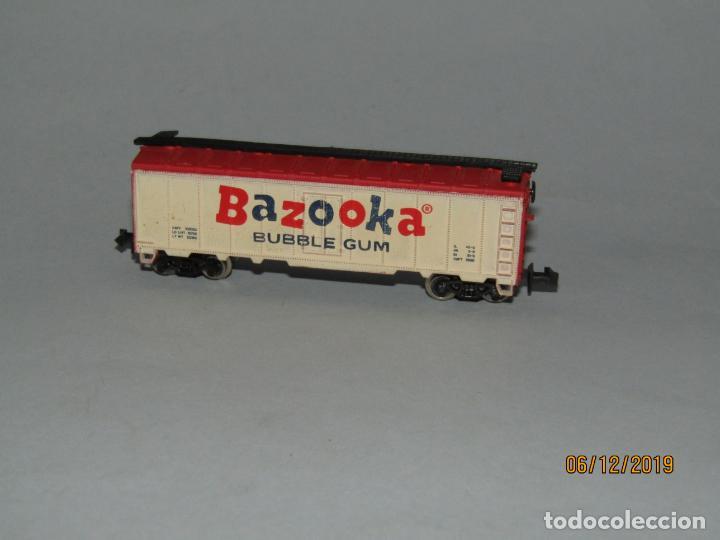 Trenes Escala: Antiguo Vagón Tipo Americano BAZOOKA BUBBLE GUM Chicle en Escala *N* Fabricado en Yugoslavia - Foto 2 - 186431316