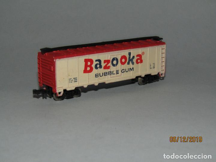Trenes Escala: Antiguo Vagón Tipo Americano BAZOOKA BUBBLE GUM Chicle en Escala *N* Fabricado en Yugoslavia - Foto 3 - 186431316