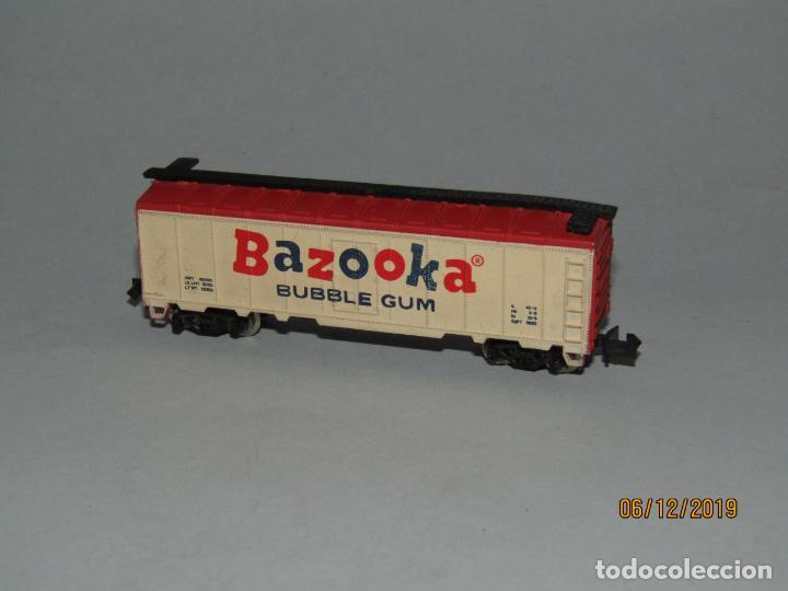 ANTIGUO VAGÓN TIPO AMERICANO BAZOOKA BUBBLE GUM CHICLE EN ESCALA *N* FABRICADO EN YUGOSLAVIA (Juguetes - Trenes Escala N - Otros Trenes Escala N)