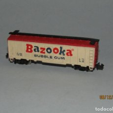 Trenes Escala: ANTIGUO VAGÓN TIPO AMERICANO BAZOOKA BUBBLE GUM CHICLE EN ESCALA *N* FABRICADO EN YUGOSLAVIA. Lote 186431316