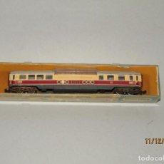 Trenes Escala: ANTIGUO COCHE DE VIAJEROS 2 PISOS PANORÁMICO DE LA DB EN ESCALA *N* DE TRIX MINITRIX. Lote 187914991