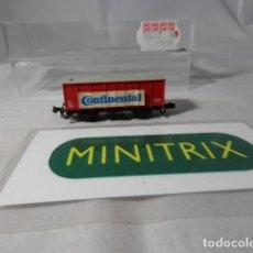 Trenes Escala: VAGÓN CERRADO ESCALA N DE MINITRIX . Lote 190606055