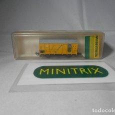 Trenes Escala: VAGÓN CERRADO ESCALA N DE MINITRIX. Lote 190935402