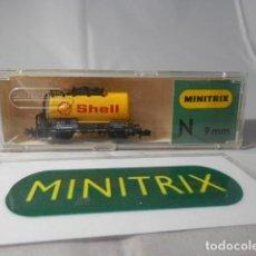 Trenes Escala: VAGÓN CISTERNA ESCALA N DE MINITRIX . Lote 190935820
