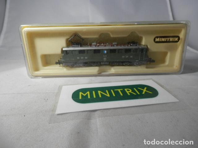 LOCOMOTORA ELECTRICA DE LA SBB ESCALA N DE MINITRIX (Juguetes - Trenes Escala N - Otros Trenes Escala N)