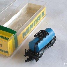 Trenes Escala: TRIX MINITRIX N VAGÓN CISTERNA ,VÁLIDO IBERTREN,ROCO,FLEISCHMANN. Lote 191410065
