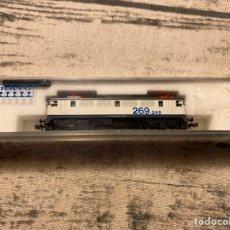 Trenes Escala: LOCOMOTORA N KATO 269 TALGO 200 BLANCO/GRIS. Lote 191613952