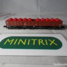 Trenes Escala: VAGÓN BORDE ALTO ESCALA N DE MINITRIX . Lote 191812718