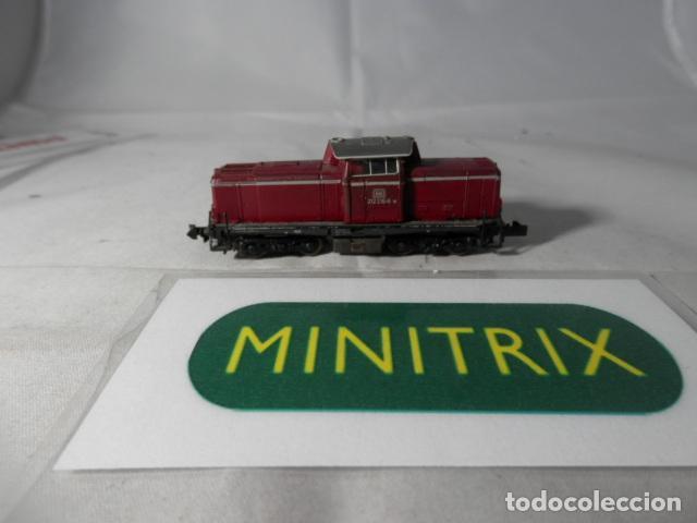 LOCOMOTORA DIESEL DE LA DB ESCALA N DE MINITRIX (Juguetes - Trenes Escala N - Otros Trenes Escala N)