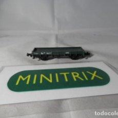 Trenes Escala: VAGÓN BORDE BAJO ESCALA N DE MINITRIX . Lote 191815946