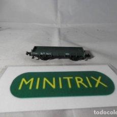 Trenes Escala: VAGÓN BORDE BAJO ESCALA N DE MINITRIX . Lote 191816037