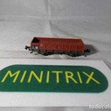 Trenes Escala: VAGÓN BORDE BAJO ESCALA N DE MINITRIX . Lote 191816166