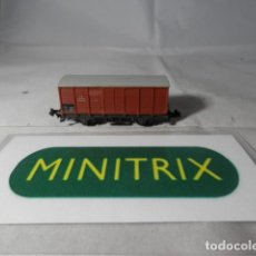 Trenes Escala: VAGÓN CERRADO ESCALA N DE MINITRIX . Lote 191816626