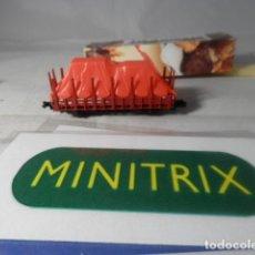 Trenes Escala: VAGÓN TELERO ESCALA N DE MINITRIX . Lote 191841817