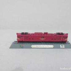 Trenes Escala: LOCOMOTORA SOUTH AFRICAN RAILWAYS 4E ESCALA N COLECCIÓN DEL PRADO NUEVA. Lote 192045156